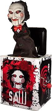 Mezco Toyz Caja de música Sorpresa Billy 36 cm. Saw. Burst-A-Box MDS. con música: Amazon.es: Juguetes y juegos