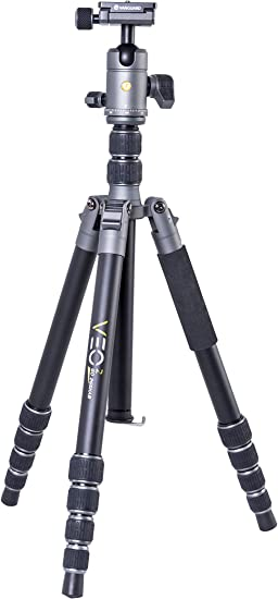 DSLR Compact System Camera CSC Canon Nikon Fujifilm Mirrorless Vanguard VEO2GO265AB Aluminum Travel Tripod with Ball Head for Sony