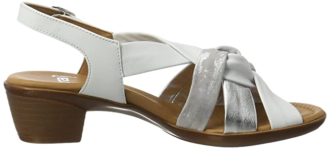 Lugano-s, Sandales Compensées Femme - Blanc - Weiß (Weiss,Silber), 37.5 EU (4.5 UK) (7 US)Ara