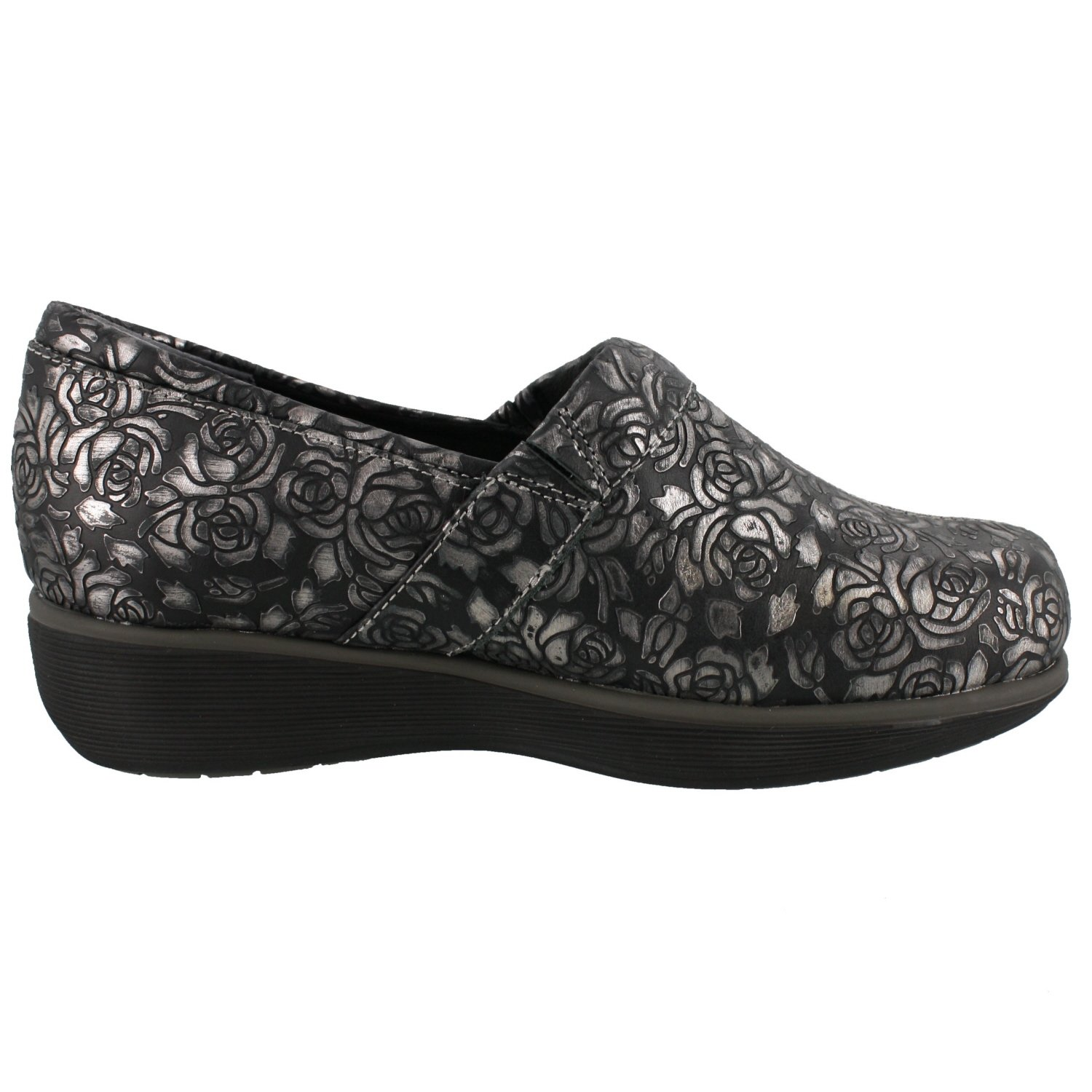 SoftWalk Women's Meredith Clog B01DCO51QS Leather 7.5 B(M) US|Black Metallic Leather B01DCO51QS 61b399