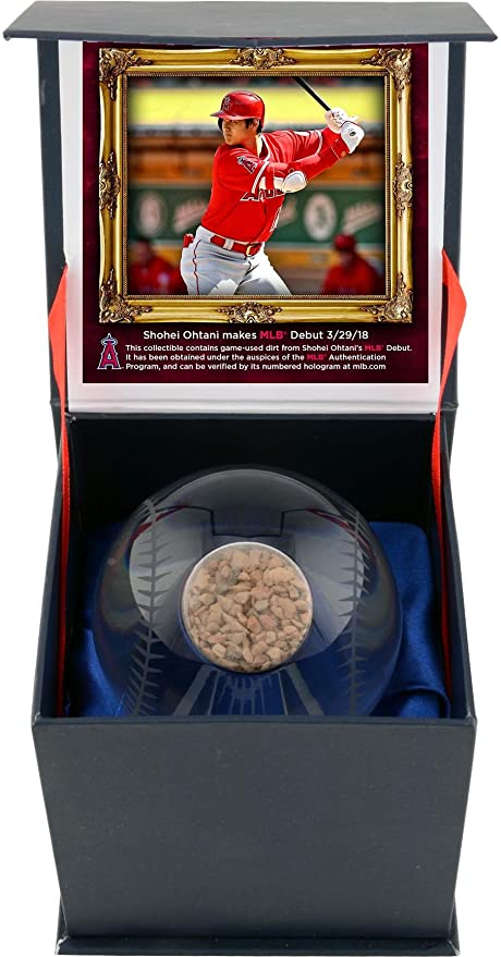 Shohei Ohtani Los Angeles Angels Crystal Baseball with Game-Used Dirt from  MLB Debut - 7fba91b95