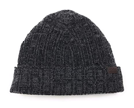 1b14e367 Hickey Freeman Men's Knit Cashmere Hat - Black and Grey Mix Color, 100%  Italian Cashmere, Made in Italy at Amazon Men's Clothing store: