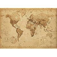 empireposter Mapamundi Estilo Antiguo–World Map Antique–Póster Gigante tamaño