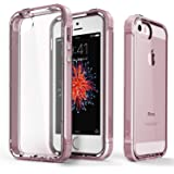 iPhone SE Case, PLESON [Crystal Bumper] iPhone SE / 5S / 5 Case Cover, Dual Layer Case [FREE Screen Protector] [Drop Protection] TPU/PC Bumper Anti-Scratch Clear Protective Case for iPhone 5s/5/SE