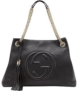 402a08913d1 Amazon.com  Gucci Soho Leather Shoulder Bag Dark Brown Cuir Gold ...