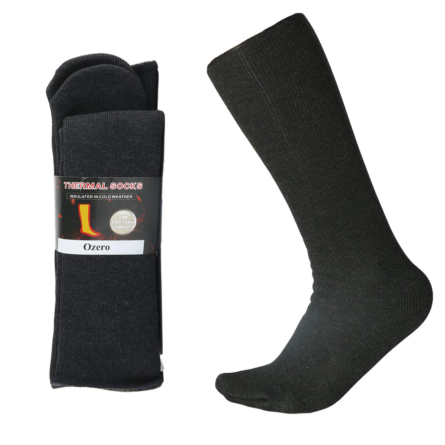 223dfb701 OZERO Winter Thermal Socks with Heel Free Design
