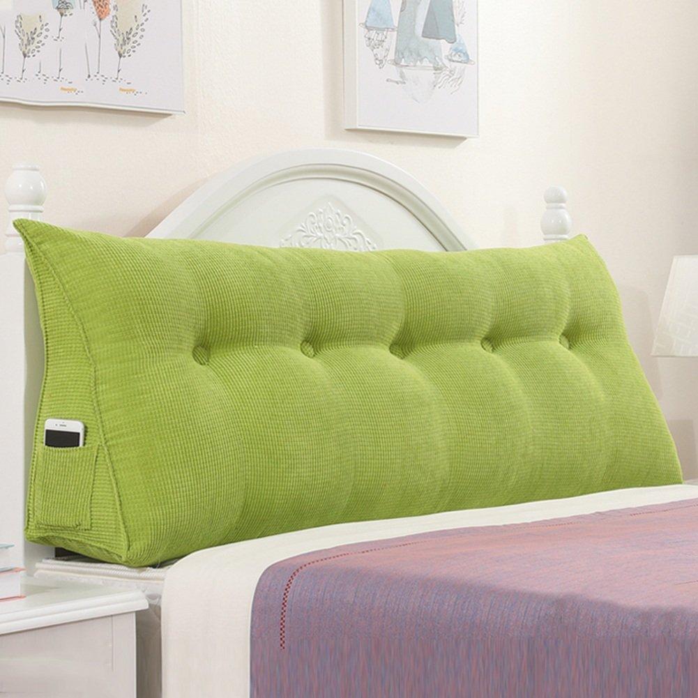 QIANGDA クッション ベッドの背もたれ トライアングルバックパッド ベッドサイドパッケージ ヘッドボード付き/なし 寝具 シングル/ダブル ベッドルーム、 ソリッドカラーの4種類、 5サイズ 利用可能 ( 色 : 緑 , サイズ さいず : 120 x 22 x 50cm ) B079Z9G1KD 120 x 22 x 50cm|緑 緑 120 x 22 x 50cm