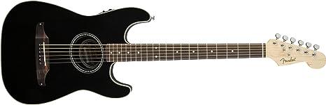 Fender 0967300006 Strat - Guitarra eléctrica acústica, color negro ...