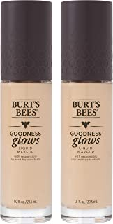 product image for Burts Bees Goodness Glows Liquid Makeup, Porcelain - 1.0 Ounce (Pack of 2)