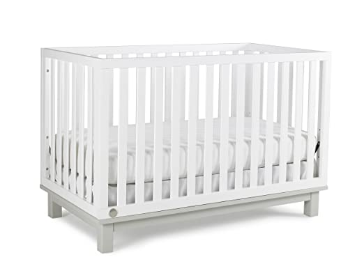 Fisher-Price Riley 3-in-1 Convertible Crib, Snow White/Misty Grey
