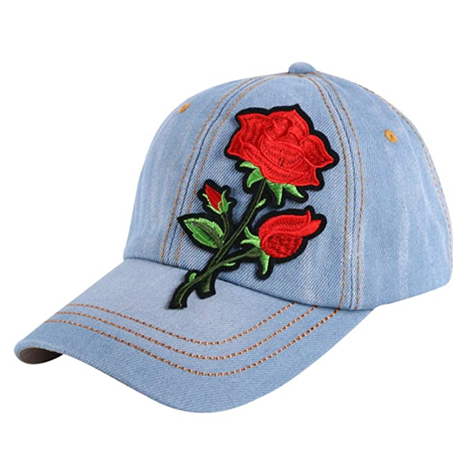 2e05b4fdaba39 Image Unavailable. Image not available for. Color  Girl Fashion Baseball  Cap Brand hat Custom Design Fuchsia Pink White Denim Hip hop Snapback Hats