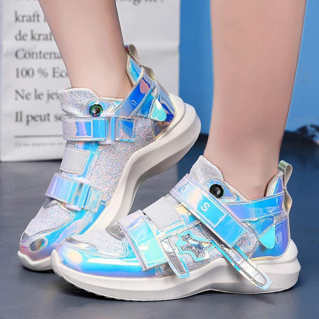Berimaterry Zapatos de Mujeres Colorido Espejo Tendencia Zapatillas Club Nocturno Salvaje Lentejuelas Zapatos Casuales Zapatillas Deporte Zapatillas de Exterior Zapatillas de Deporte Ocasionales