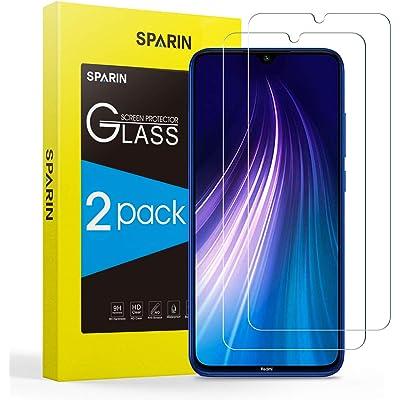 SPARIN [2 Pack Protector Pantalla Redmi Note 8 / Note 7, Cristal Templado Redmi Note 8 / Note 7, Vidrio Templado con [Alta Definicion] [Sin Burbujas] [Anti-Huella]