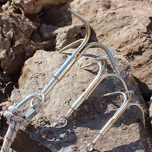 Gancho de acero inoxidable con 3 garras para escalada, para escalada al aire libre, herramienta de supervivencia, versátil, resistente a la corrosión, ...