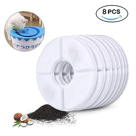 DTOETKD 8 PCS Filtro de Carbón Activado de Fuentes para Mascotas - Automática Fuente de Agua