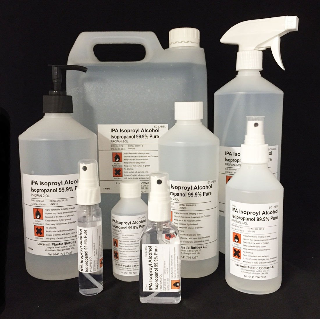ISOPROPYL RUBBING ALCOHOL 91% IPA FIRST AID ANTISEPTIC - *MULTILISTING* Various Sizes 30mL to 5 Litres (100ml Atomizer Spray Bottle) Lucemill Packaging