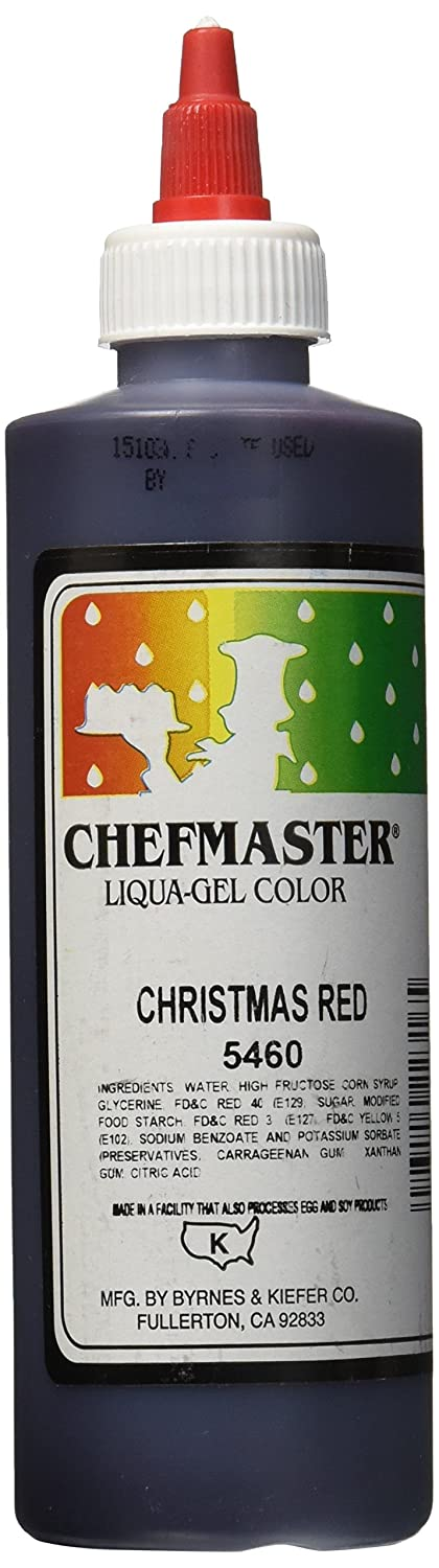 Chefmaster Liqua-Gel Food Color, 10.5-Ounce, X-Mas Red