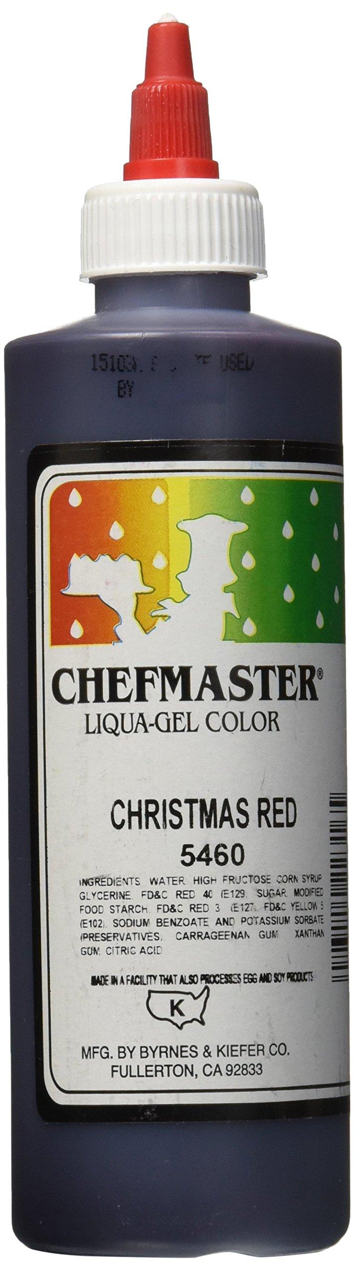 Chefmaster Liqua-Gel Food Color, 10.5-Ounce, X-Mas Red