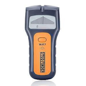 3 en 1 Stud Finder, eletecpro Multi Función escaneo electrónico para montantes de pared AC Cables y General metales, sonido gráfico Show por pantalla LCD