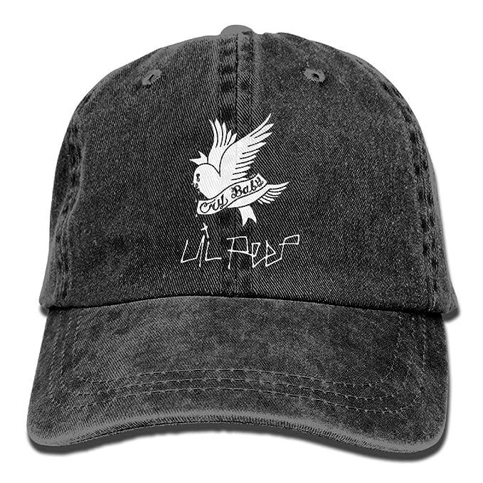 26915815c77 HJST LIL-PEEP Unisex Baseball Cap Dad Adjustable Hat Denim Washed ...