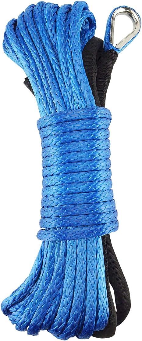 6 mm x 15 m Grizack Cuerda de Nailon sint/ético para cabrestante con Funda Azul para ATV UTV