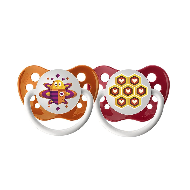 スーパーセール期間限定 Ulubulu 0-6 Pacifiers & Ulubulu - 0-6 months - Bee & Honeycomb - 2 pk by Ulubulu B00LZXWN4W, 日田市:d349552e --- a0267596.xsph.ru