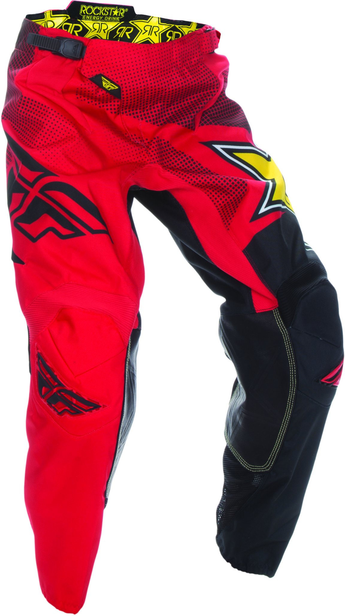 Fly Racing Unisex-Adult Kinetic Rockstar Pants Red/Black Size 38