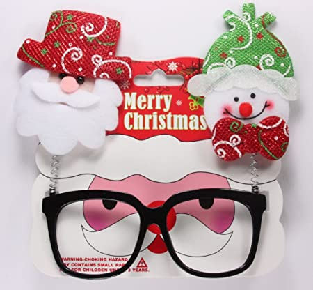 14106d4f2d03 1 x Christmas Novelty Glasses Snowman Santa or Reindeer on Springs  Amazon. co.uk  Kitchen   Home
