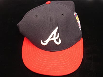 3bb8d48000197 Image Unavailable. Image not available for. Color  Frank Fultz Game Worn 1999  World Series Atlanta Braves Coach s Hat ...
