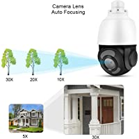 Kamera kopułkowa HD 5MP 30X z zoomem optycznym Kamera monitorująca Sieć PTZ Plastik ABS Metal Wsparcie ONVIF(100-240V…