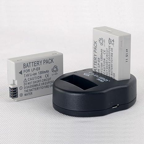 USB Dual Cargador para Canon EOS 550d, 600d cámara réflex digital ...