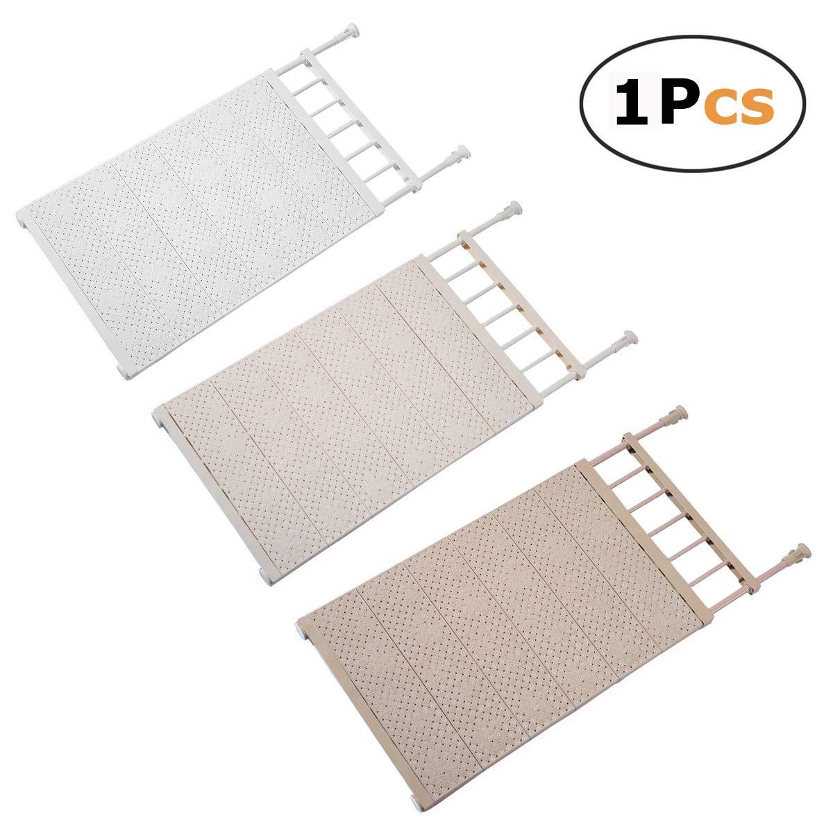 In kds Scalable Layered Separator Updated Version Adjustable Storage Rack Shelf Wardrobe Refrigerator Cupboard Random Colour (53-90) x42cm