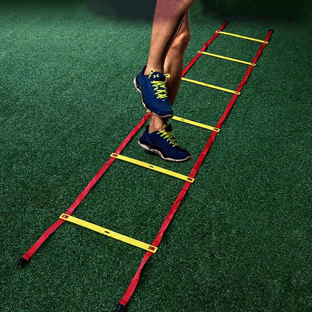 Xin Speed Agility Ladder 8M 16 Rung Tipo Fijo Escalera de Entrenamiento for fútbol Speed Basketball Fútbol Fitness Pies Entrenamiento: Amazon.es: Deportes y aire libre