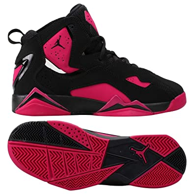 lowest price 33959 cb6a6 Jordan Nike Air True Flight GG 342774-006 Black Sport Fuchsia Kids Shoes (