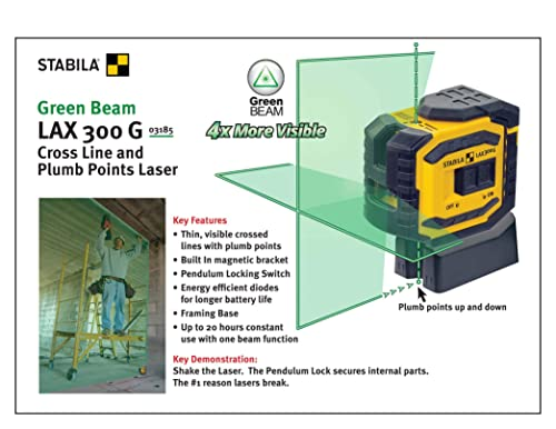 Stabila ProLiner Cross Line Laser Level Plus Plumb Points