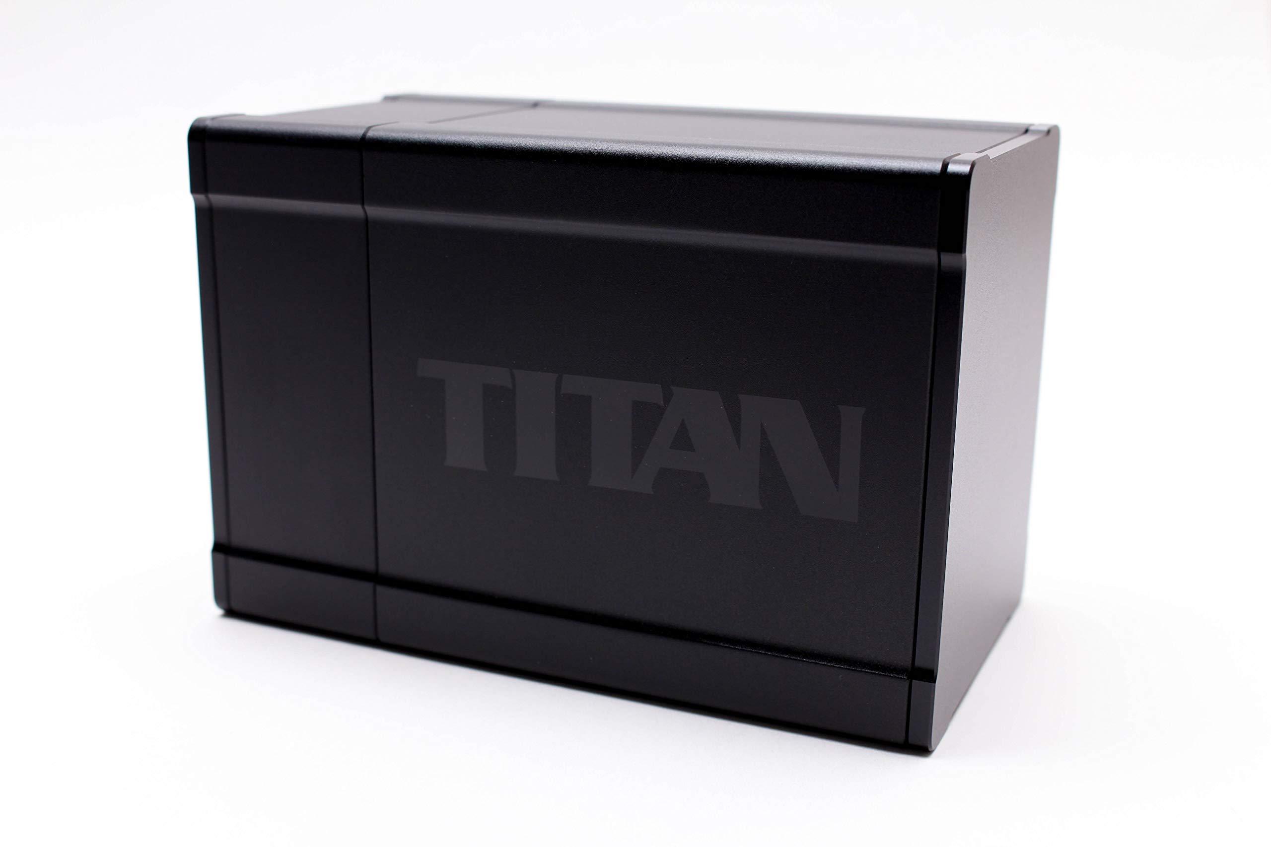 Black Satin Titan Box Gods Premium High Strength Deck Box Case Protector
