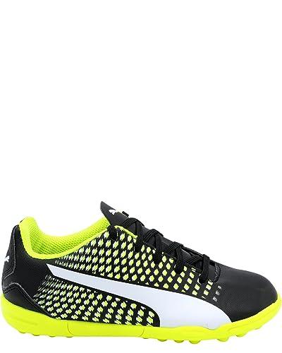 495e22e6d6bbe5 PUMA Kid s Adreno III Turf Shoe Black Neon (2.5 Little ...