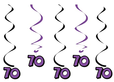 amazon com creative converting 5 count dizzy dangler hanging 70th