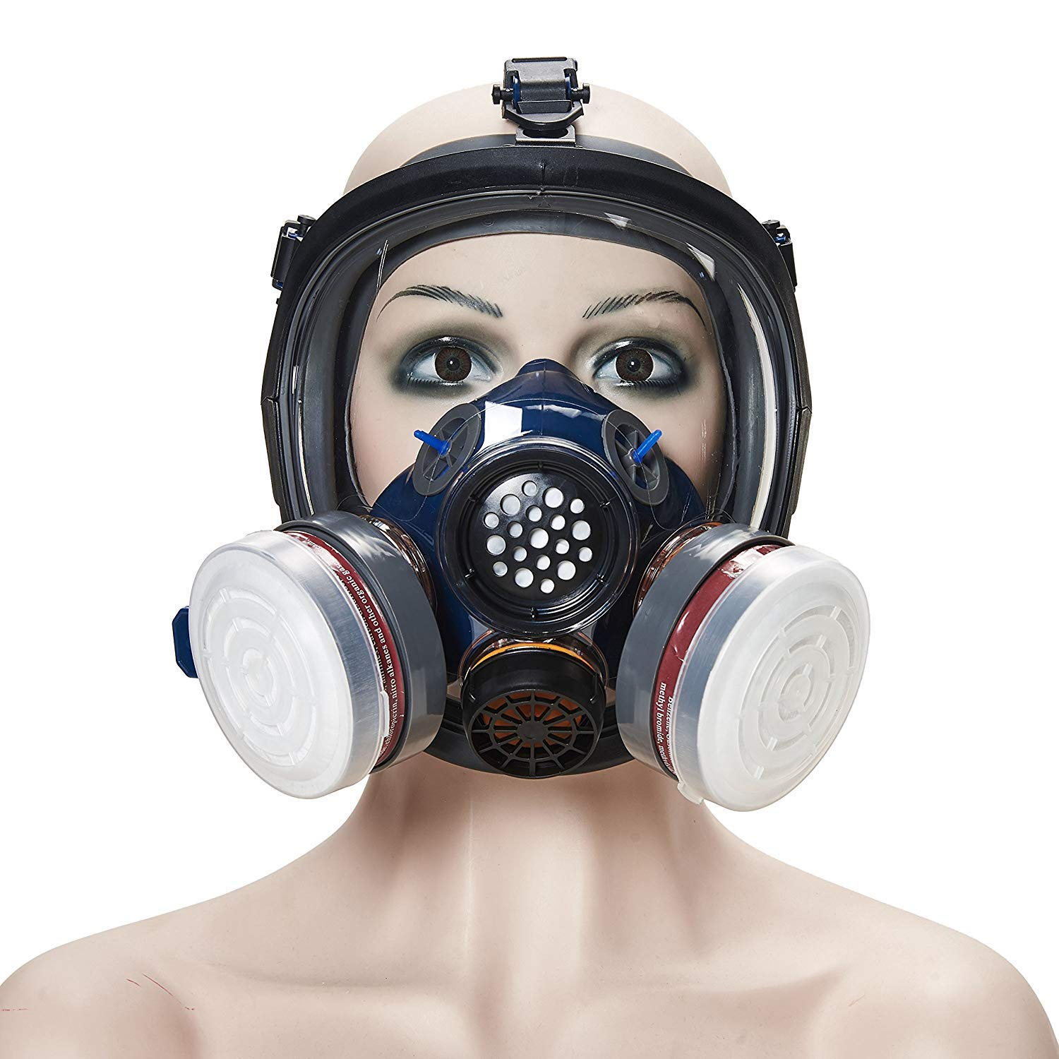 Phoenixfly99 Organic Vapor Full Face Respirator Safety Mask N95 Double Activated Charcoal Air filter For Painting Formaldehyde Chemicals Respiratory Protection (Safety mask+1 Pair 3# filter) by Phoenixfly99 (Image #3)