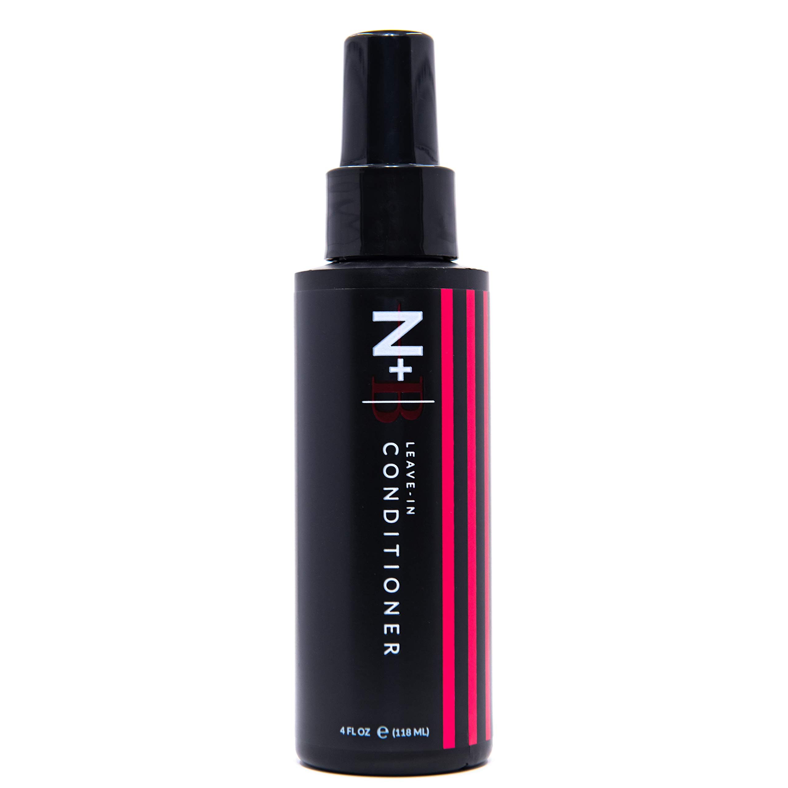 N+B Leave-in   25+ Benefits   For Daily Use   Detangle and Hydrate  For All Hair Types and Textures   Made in the USA