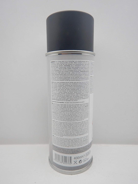 Normfest Kroma Paint Spray Paint Black Matt Ral9005 Car Paint 400 Ml 3 Auto