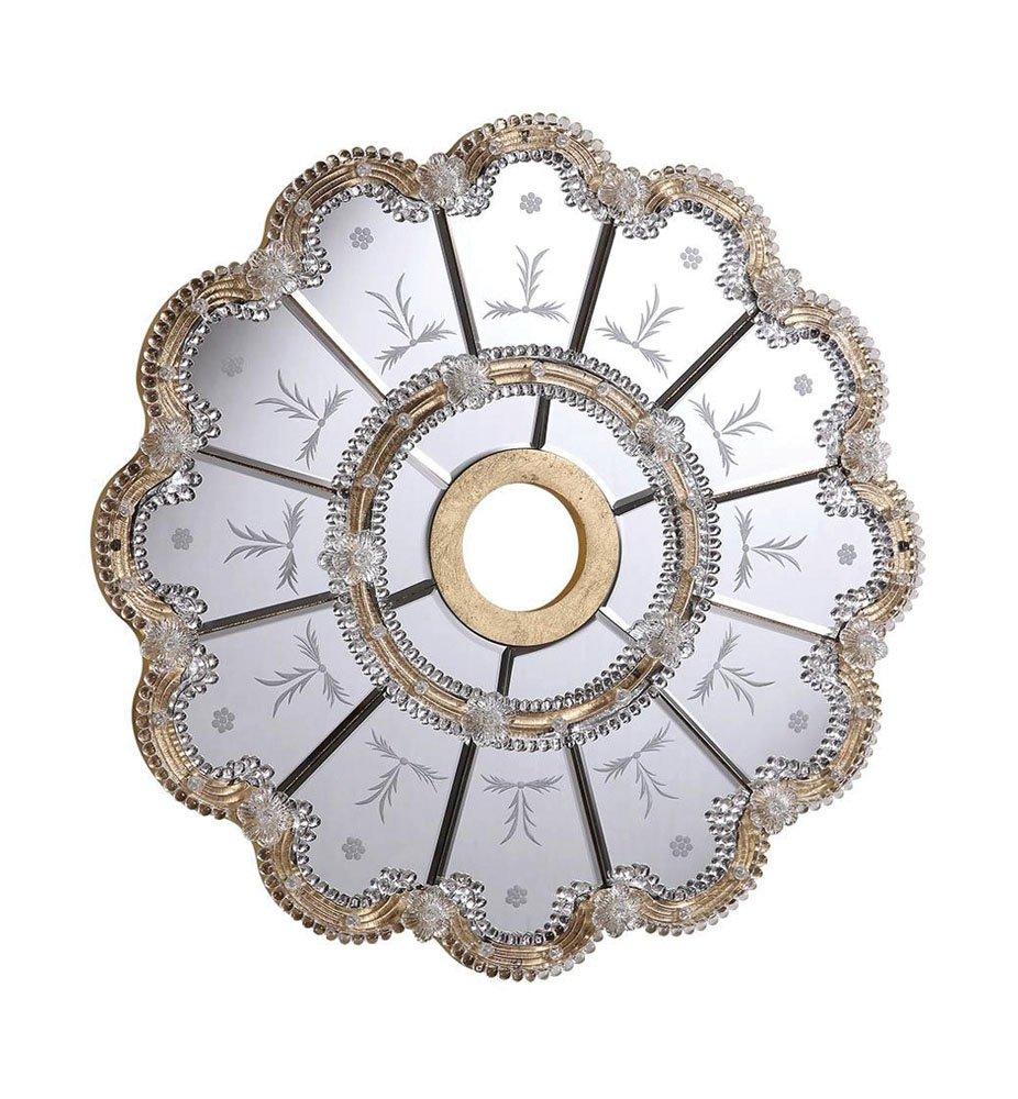 Elegant Lighting MD409D32GC 32 in. Mirror Medallion, Gold With Clear Mirror by Elegant Lighting