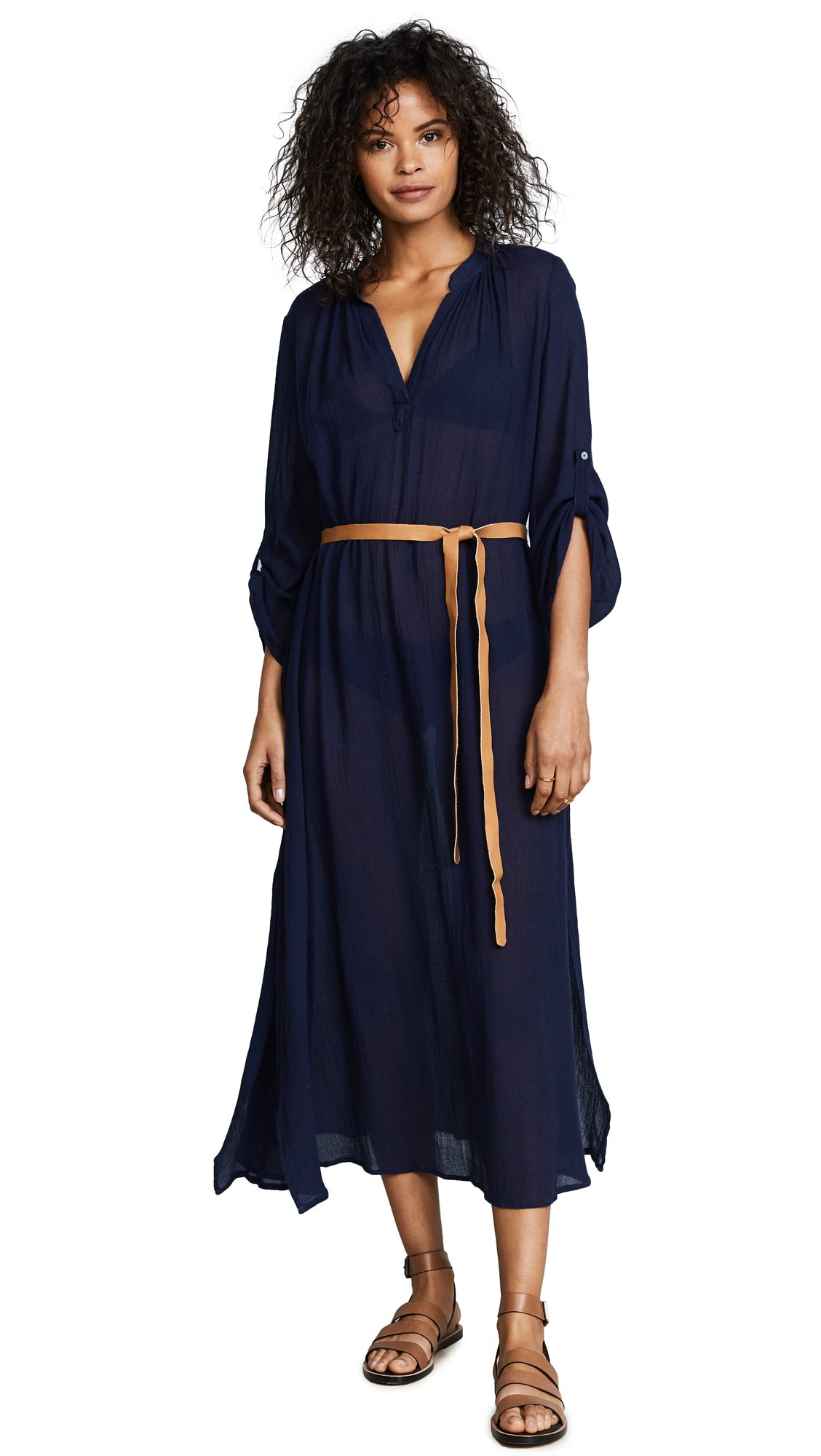 Eberjey Women's Summer Of Love Cover Up Dress, Deep Blue, M/L