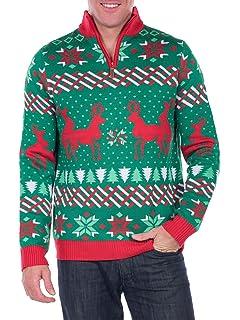 1fae2810f Festified Men s Retro Humping Reindeer Sweater (Blue) - Ugly ...