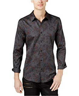 bb99e55eb5671d GUESS Men s Long Sleeve Luxe Floral Button Down Shirt at Amazon ...
