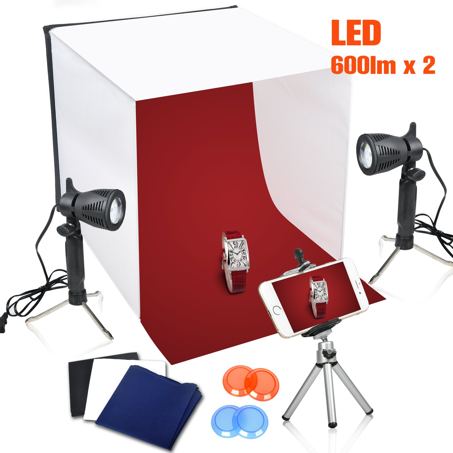 Emart 16 x 16 Inch Table Top Photo Photography Studio Lighting Light Shooting Tent Box Kit by EMART