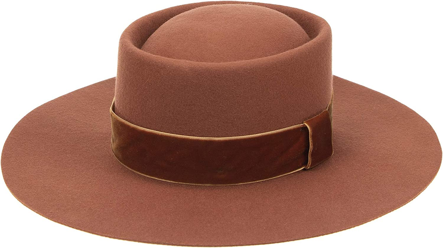 Fedora for Women Wool Felt Fresno Mall Boater Hat Wi Flat Style Top Pork Special price Pie