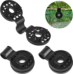 30 Pieces Round Shade Cloth Plastic Clips Sunshade Net Fixing Clip Shade Fabric Clips Attachment and Placement for Sun Shade Net Anti Bird Netting Garden Netting, Shade Netting Fabric Accessories