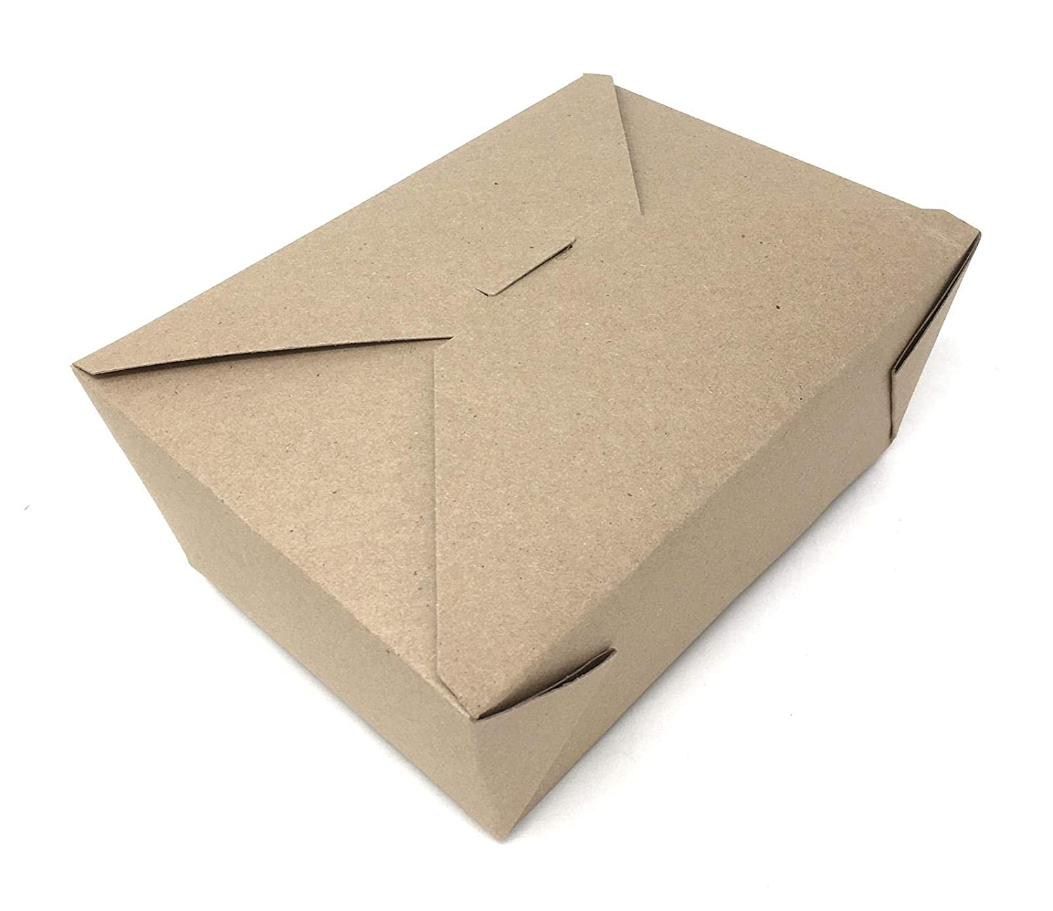 Mr Miracle Mega Kraft Take Out Boxes, 112 Ounce. Pack 20. Microwaveable. Leak and Grease Resistant. Recyclable Lunch Box/to Go Containers. Made from Eco Friendly Brown Kraft Paperboard
