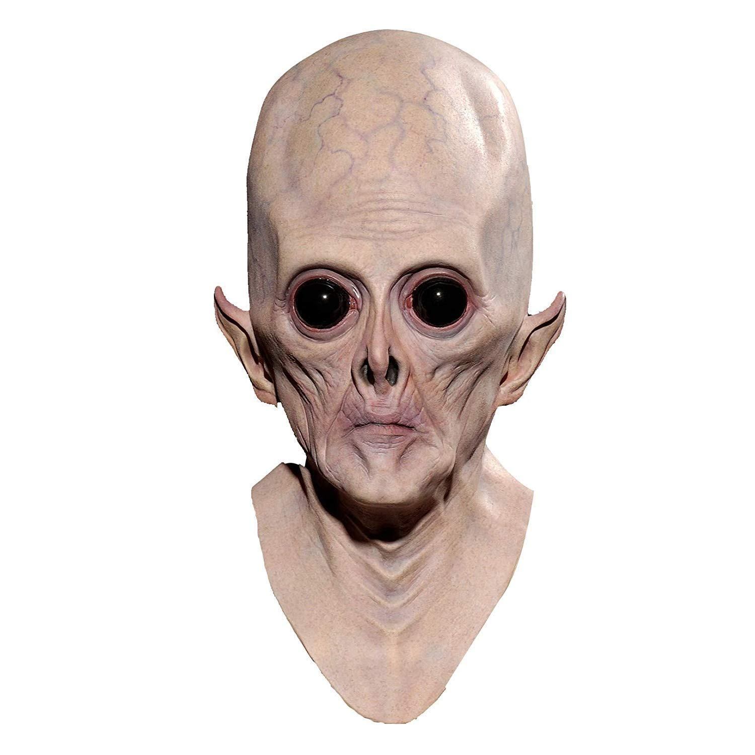 KX-QIN Novelty Latex Halloween Mask Creepy Latex Alien Head Mask for Adults Masquerade Costume Party Cosplay Sloth Head Masks Very Horrible by KX-QIN